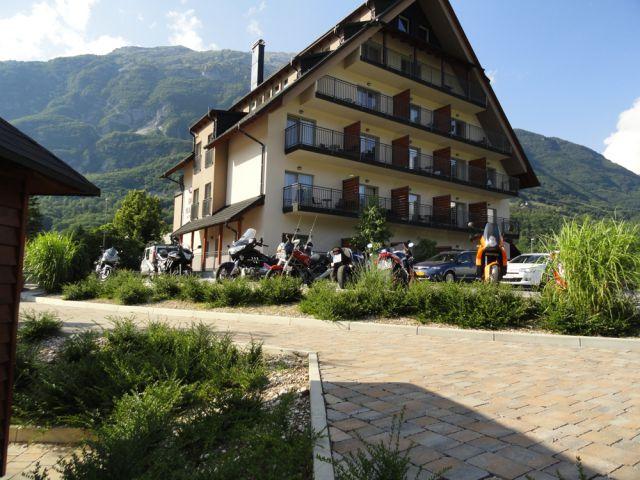Motorradfahrer Hotel Mangart Bovec Superior Design